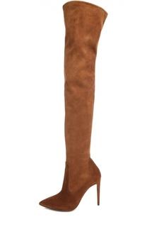 Замшевые ботфорты Tasita на шпильке Ralph Lauren
