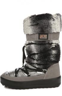 Комбинированные сапоги на шнуровке Jog Dog