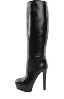 Кожаные сапоги Leila на устойчивом каблуке Gucci