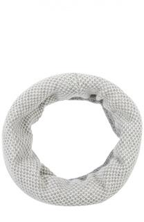 Вязаный шарф-снуд из кашемира Johnstons Of Elgin
