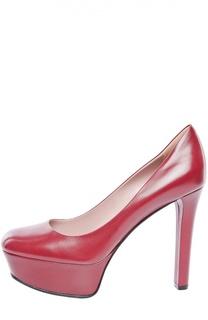 Кожаные туфли Leila на платформе Gucci