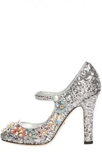 Туфли Coco с пайетками Dolce & Gabbana