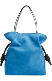 Замшевая сумка Flamenco Knot large Loewe