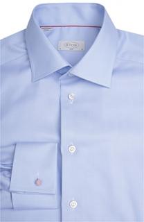 Приталенная сорочка с французскими манжетами Eton