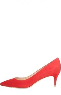 Замшевые туфли Сlassic на шпильке Gianvito Rossi