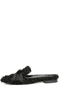 Меховые домашние туфли Maestro с кисточками Aleksandersiradekian