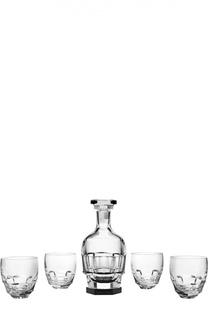 Набор из круглого штофа и 4-х стаканов для виски 1000 Abysse Baccarat