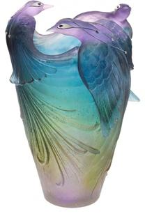 Ваза Oiseau De Paradis Daum