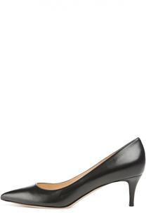 Кожаные туфли Сlassic на шпильке Gianvito Rossi