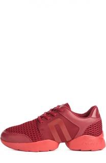 Комбинированные кроссовки с сетчатой вставкой DKNY