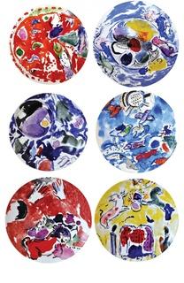 Набор из 6-ти тарелок Collection Marc Chagall Bernardaud