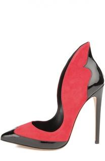 Замшевые туфли Dina с лаковыми вставками Aleksandersiradekian
