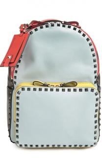 Средний рюкзак Rockstud из комбинированной кожи Valentino