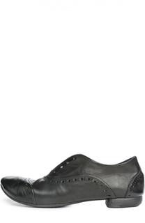 Кожаные ботинки с перфорацией Marsell