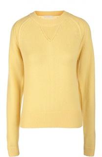 Кашемировый пуловер с удлиненным рукавом и круглым вырезом Chloé
