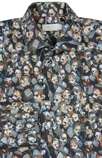 Приталенная рубашка с принтом Eton