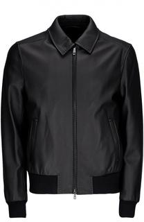 Кожаная куртка-бомбер Brioni
