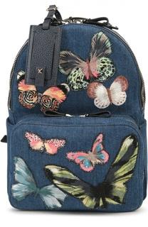 Рюкзак из денима с вышивкой Valentino