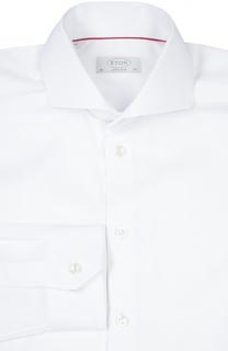 Приталенная сорочка с воротником акула Eton