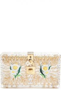 Прозрачный клатч Dolce Box с росписью Dolce & Gabbana