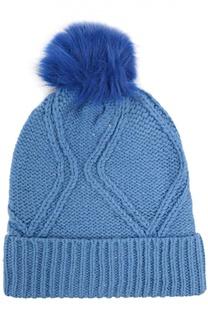 Вязаная шапка с помпоном Wildfox
