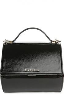 Сумка из лаковой кожи Pandora Box mini на цепочке Givenchy