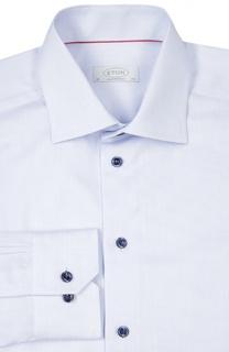 Полуприталенная сорочка в мелкую клетку Eton