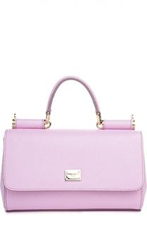 Маленькая сумка Sicily из тисненой кожи Dolce & Gabbana