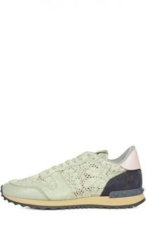 Комбинированные кроссовки Lace Sneaker Valentino