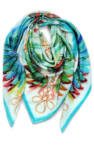 Платок Imperial Feathers из смеси кашемира и шелка Lalique