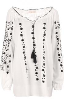 Блуза с укороченным рукавом и вырезом бато Tory Burch