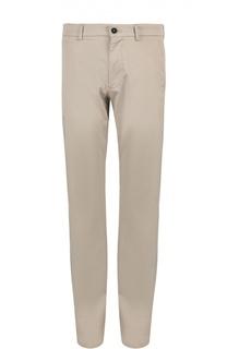 Хлопковые брюки прямого кроя Giorgio Armani