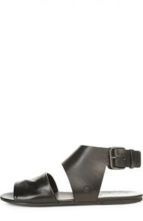 Кожаные сандалии с широким ремешком Marsell