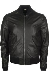 Кожаная куртка-бомбер Burberry Brit