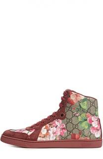 Высокие кеды Coda с принтом Gucci