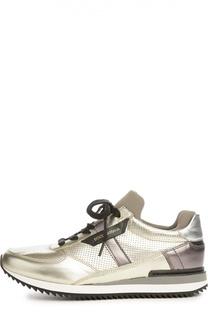 Кроссовки из металлизированной кожи Dolce & Gabbana