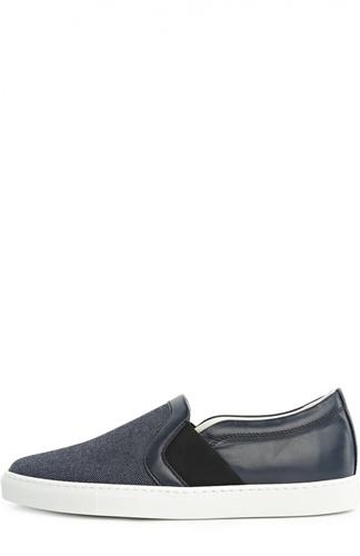 Комбинированные слипоны на контрастной подошве Lanvin