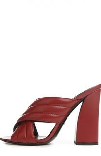 Сабо Webby на устойчивом каблуке Gucci
