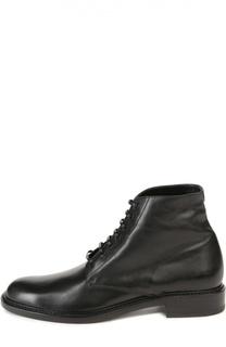 Кожаные ботинки Lolita на шнуровке Saint Laurent