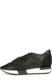 Плетеные кроссовки с эластичной вставкой Balenciaga