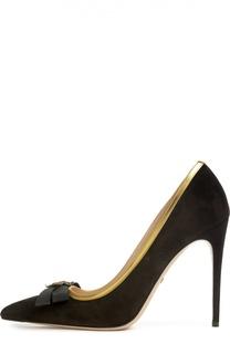 Замшевые туфли Moody с декором Gucci