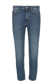 Укороченные джинсы с нашивкой Moschino
