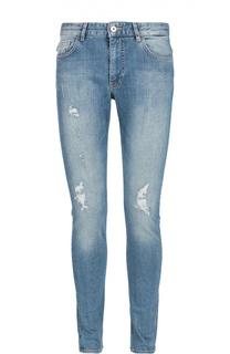 Зауженные джинсы с потертостями Moschino