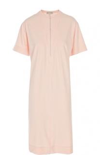 Прямое платье-футболка с вырезом на молнии Balenciaga