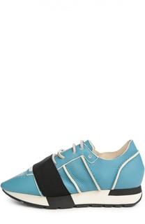 Кожаные кроссовки с эластичной вставкой Balenciaga