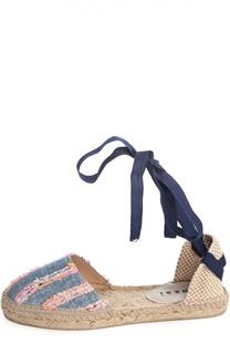 Текстильные эспадрильи Ibiza на лентах Manebi