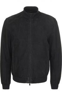 Замшевая куртка Armani Collezioni