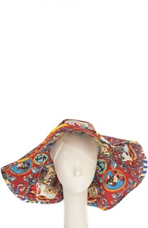 Широкополая шляпа с принтом Caretto Siciliano Dolce & Gabbana