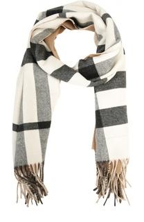 Кашемировый шарф с карманом в клетку Burberry