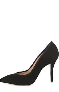 Замшевые туфли с зауженным мысом Armani Collezioni